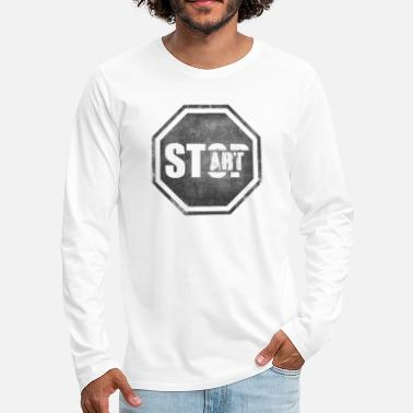 Start STOP START Start Art Start art - Men's Premium Longsleeve Shirt