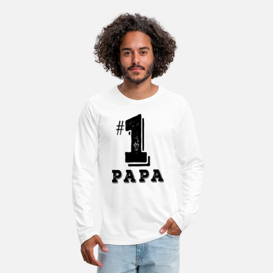 Love Long Sleeve Shirts - Daddy No. 1 - Father's Day Shirt - Men's Premium Longsleeve Shirt white