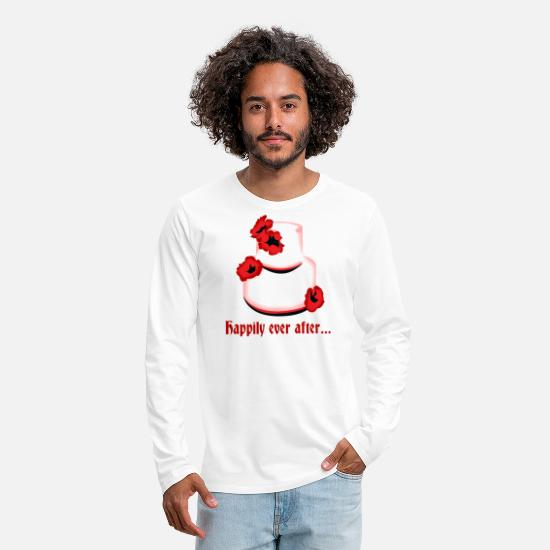 Bride Long sleeve shirts - for ever and ever happy wedding cake idea - Men's Premium Longsleeve Shirt white
