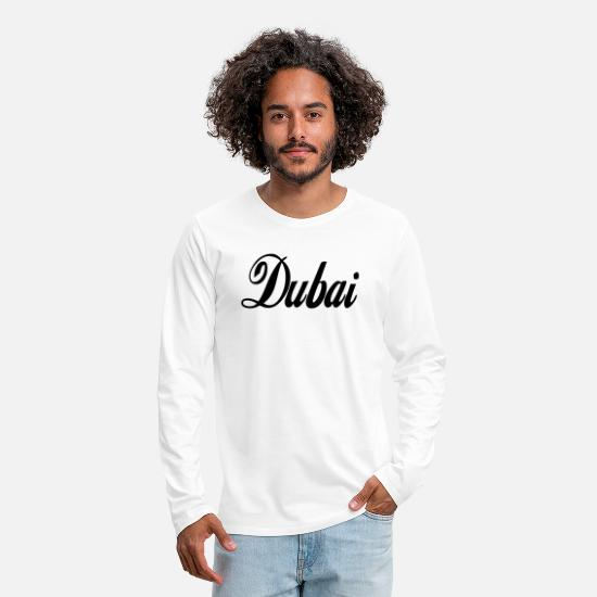 Uae Long sleeve shirts - dubai - Men's Premium Longsleeve Shirt white