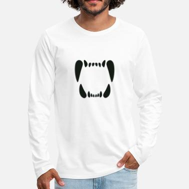 Teeth - mouth monster teeth - Men's Premium Longsleeve Shirt