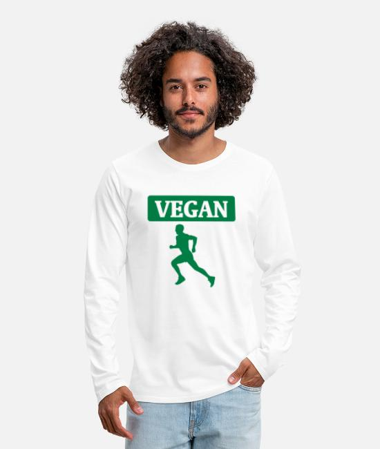 Bless You Long-Sleeved Shirts - Veganes Workout - Men's Premium Longsleeve Shirt white