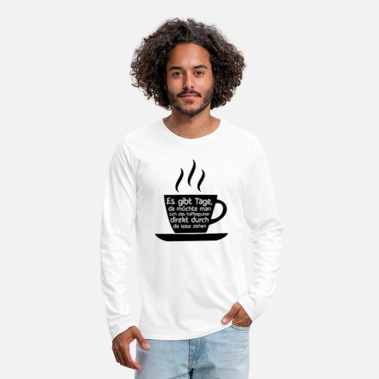 Coffee Bean Long sleeve shirts - Coffee Coffee Coffee Drinker Gift - Men's Premium Longsleeve Shirt white
