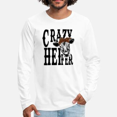 Crazy Eights Crazy Heifer - Mannen premium longsleeve