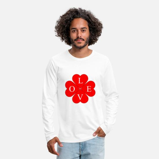 Love Long sleeve shirts - Good luck with love - Men's Premium Longsleeve Shirt white