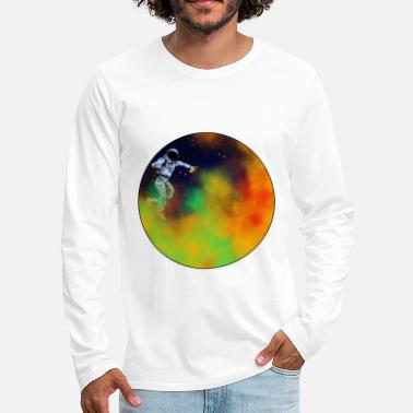 Moon come let us color the universe colorful gift idea - Men's Premium Longsleeve Shirt