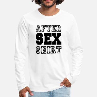 Sex On The Beach After Sex Shirt - Liefde - Liefde - Mannen premium longsleeve