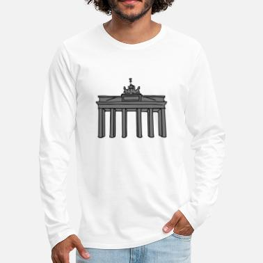West Berlin Brandenburg Gate in Berlin 2 - Men's Premium Longsleeve Shirt