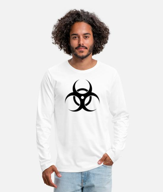 Chemistry Long-Sleeved Shirts - Biohazard - Men's Premium Longsleeve Shirt white