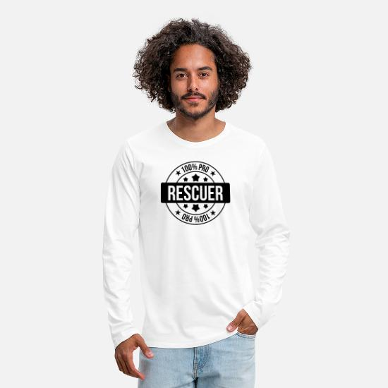 Disease Long sleeve shirts - Rescuer Rescue Retter Secourisme Secouriste - Men's Premium Longsleeve Shirt white