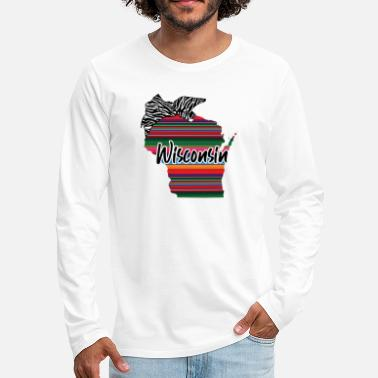 United Wisconsin Country Rainbow - Mannen premium longsleeve