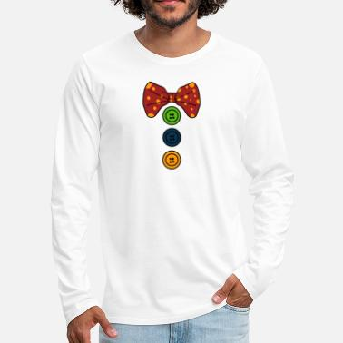 Necktie Clown Necktie - Men's Premium Longsleeve Shirt