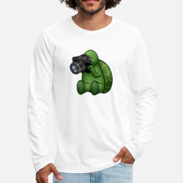 Photo turtle with camera - Men's Premium Longsleeve Shirt