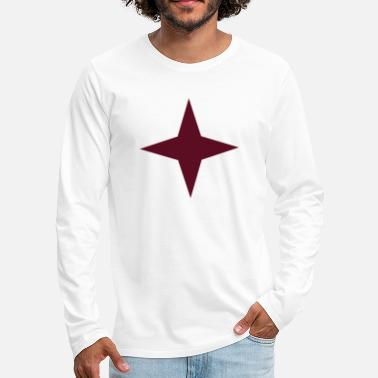Rouge etoile rouge 4 branches - T-shirt manches longues premium Homme