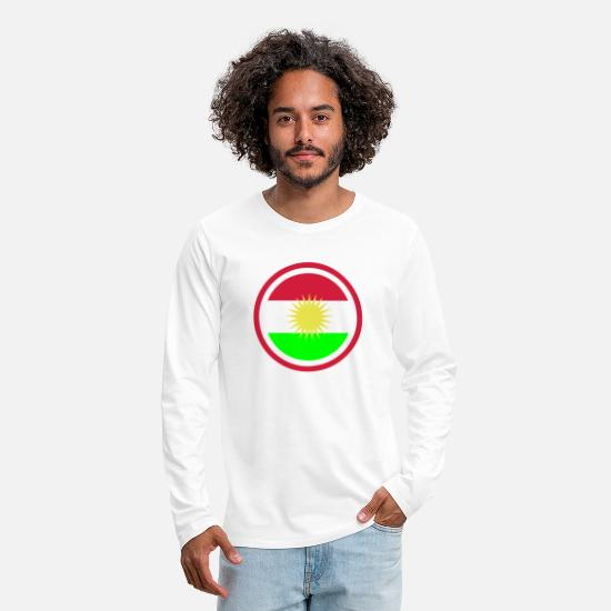 Country Long sleeve shirts - Kurdistan Emblem - Men's Premium Longsleeve Shirt white