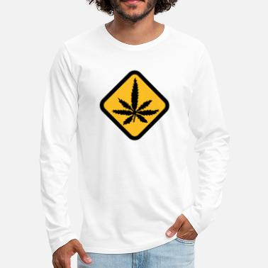 Hanf Hanf | Grass | Warning - T-shirt manches longues premium Homme
