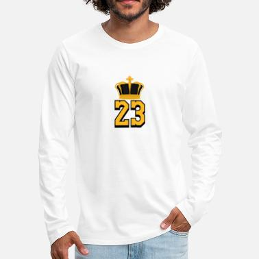 Basketball Number 23 LeBron James - Men's Premium Longsleeve Shirt