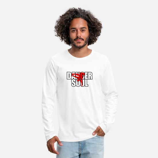 Dancer Long sleeve shirts - To dance - Men's Premium Longsleeve Shirt white