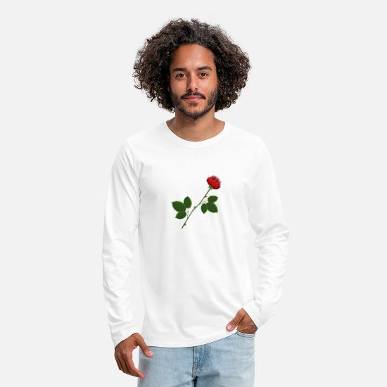 Love Long sleeve shirts - A very special rose - Men's Premium Longsleeve Shirt white