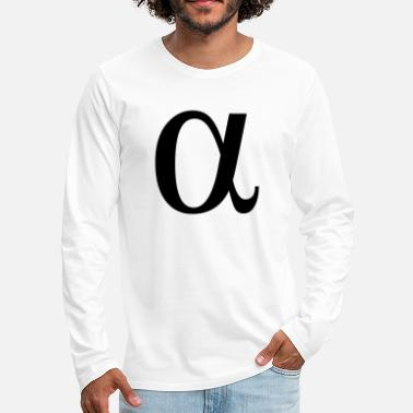 Greek Letters alpha greek letter - Men's Premium Longsleeve Shirt
