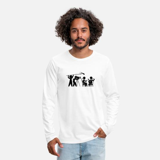 Television Long Sleeve Shirts - Television Studio talk show - Men's Premium Longsleeve Shirt white