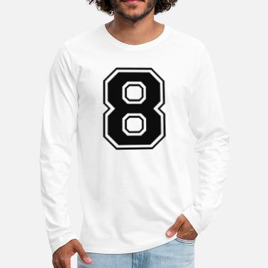 Number 8, eight, number, number - Men's Premium Longsleeve Shirt