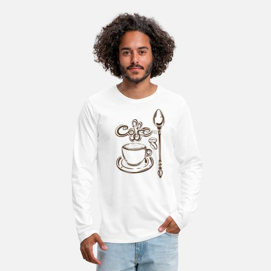 Espresso Long Sleeve Shirts - Coffee Coffee Cappuccino - Men's Premium Longsleeve Shirt white
