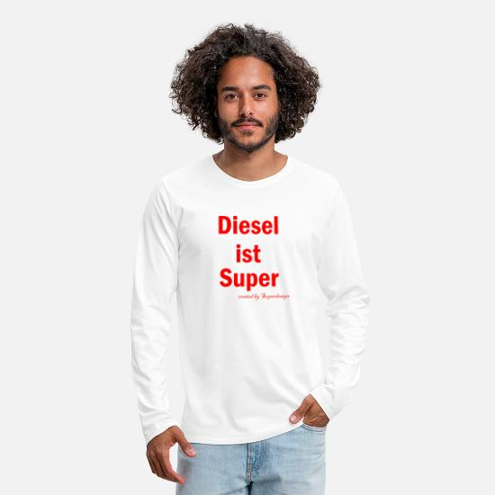 Diesel Long sleeve shirts - diesel - Men's Premium Longsleeve Shirt white