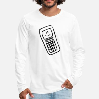 Mobile Smiley - T-shirt manches longues premium Homme