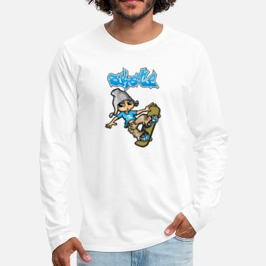 Skate Skateboard and graffitis - T-shirt manches longues premium Homme
