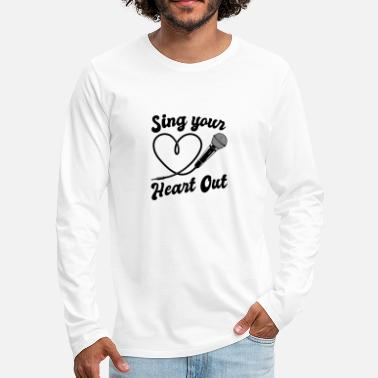 I Heart Karaoke Sing Your Heart Out I Microphone Singing Karaoke - Men's Premium Longsleeve Shirt