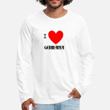 Germania Amo a germania - Camiseta de manga larga premium hombre