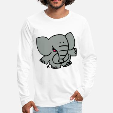 Little Elephant by Cheerful Madness!! - Men's Premium Longsleeve Shirt