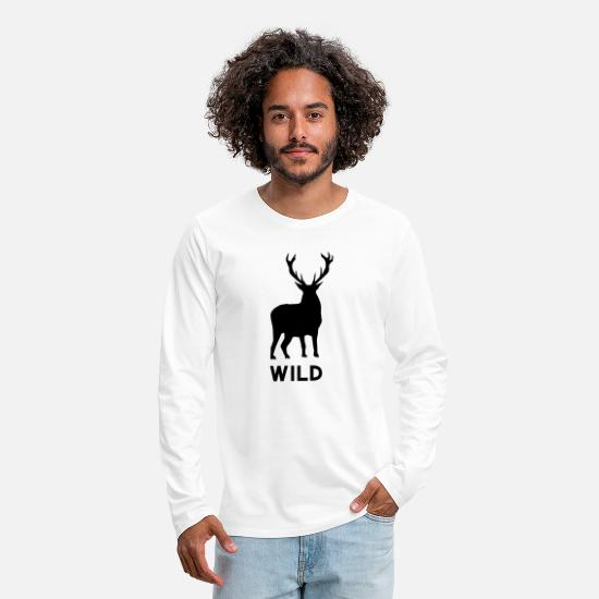 Wild Dog Long sleeve shirts - Wild - Men's Premium Longsleeve Shirt white