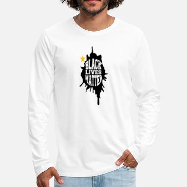 Ganja Black Lives Matter Man - Men's Premium Longsleeve Shirt