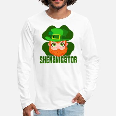 St Patricks Day St Patricks Day Party Shirt Shamrock Beer Gift - Men's Premium Longsleeve Shirt