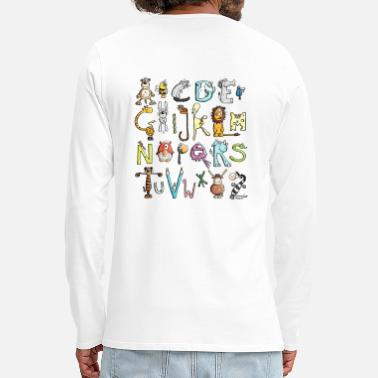 Alphabet Coloré alphabet animal - T-shirt manches longues premium Homme