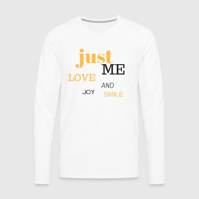 JUST ME - Premium langermet T-skjorte for menn