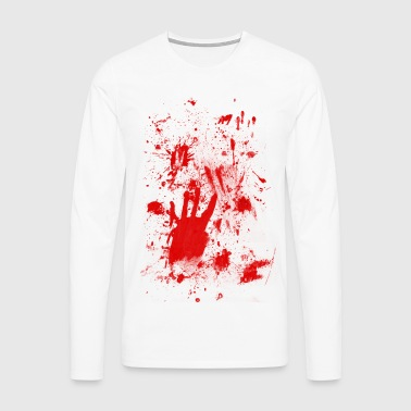 Splashes of blood / blood Smeared - Men's Premium Longsleeve Shirt
