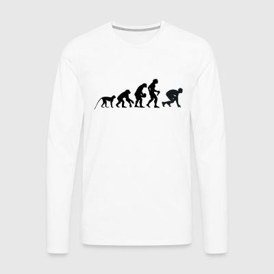 I love running - Men's Premium Longsleeve Shirt