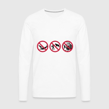 Selfies warning - Men's Premium Longsleeve Shirt