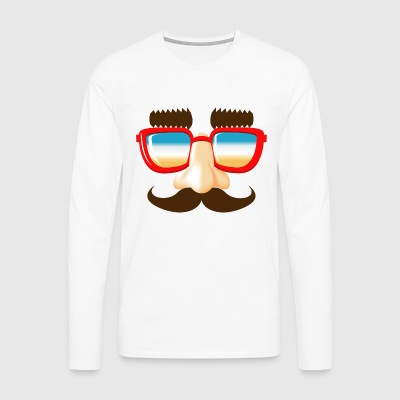 stuffing and catches mustache nose glasses - Men's Premium Longsleeve Shirt