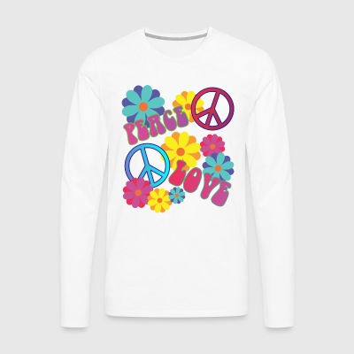 love peace hippie flower power - Men's Premium Longsleeve Shirt