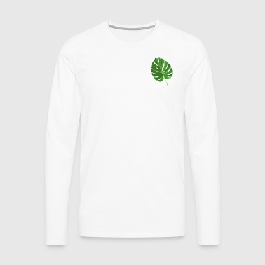 tropical leaves - Men's Premium Longsleeve Shirt