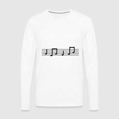 Music Notes Music Clef Song Musician sing - Men's Premium Longsleeve Shirt