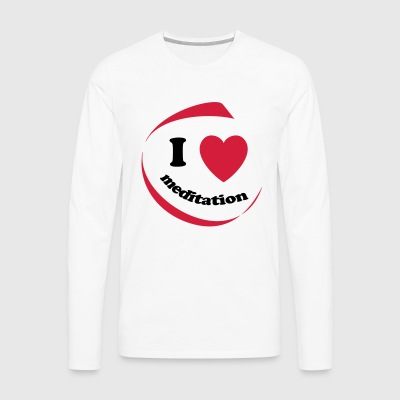 I love meditation - Men's Premium Longsleeve Shirt