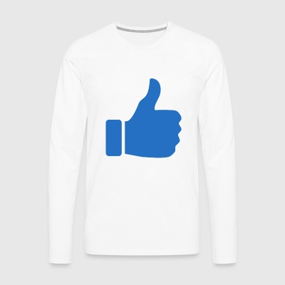 thumbs up - Herre premium T-shirt med lange ærmer