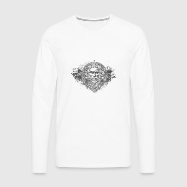 HIPSTER GOD - Men's Premium Longsleeve Shirt