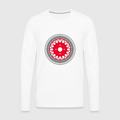 old_wheel_red_2 - T-shirt manches longues Premium Homme