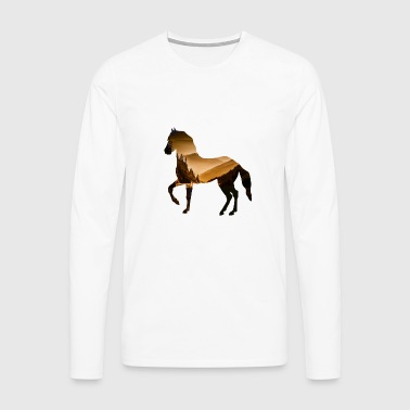 horse riding landscape nature - Men's Premium Longsleeve Shirt